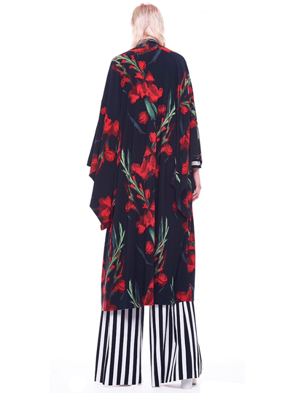 NORMA KAMALI | Midcalf Robe Dress in Blooming Rose