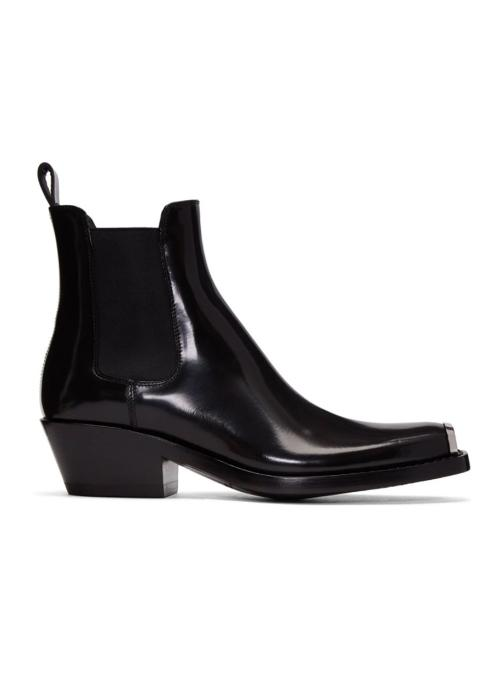 CALVIN KLEIN 205W39NYC | Black Western Chelsea Boots