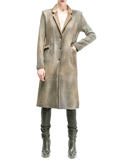 AVANT TOI | Silk and Alpaca Blend Single Breasted Coat