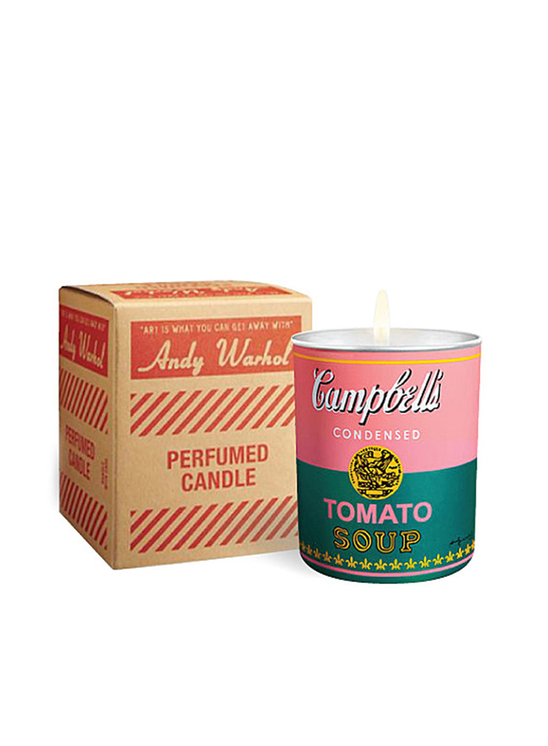 ANDY WARHOL | Pop Art Campbell's Soup Candle in Pink/Green