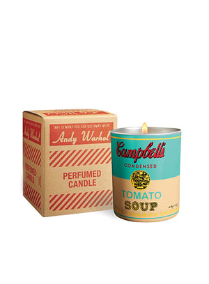 ANDY WARHOL | Pop Art Campbell's Soup Candle in Turquoise/Yellow