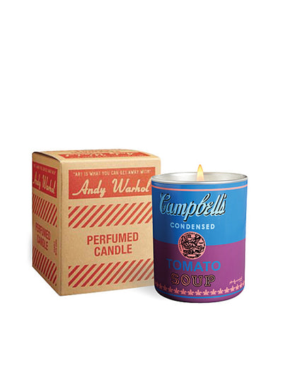 ANDY WARHOL | Pop Art Campbell's Soup Candle in Blue/Purple