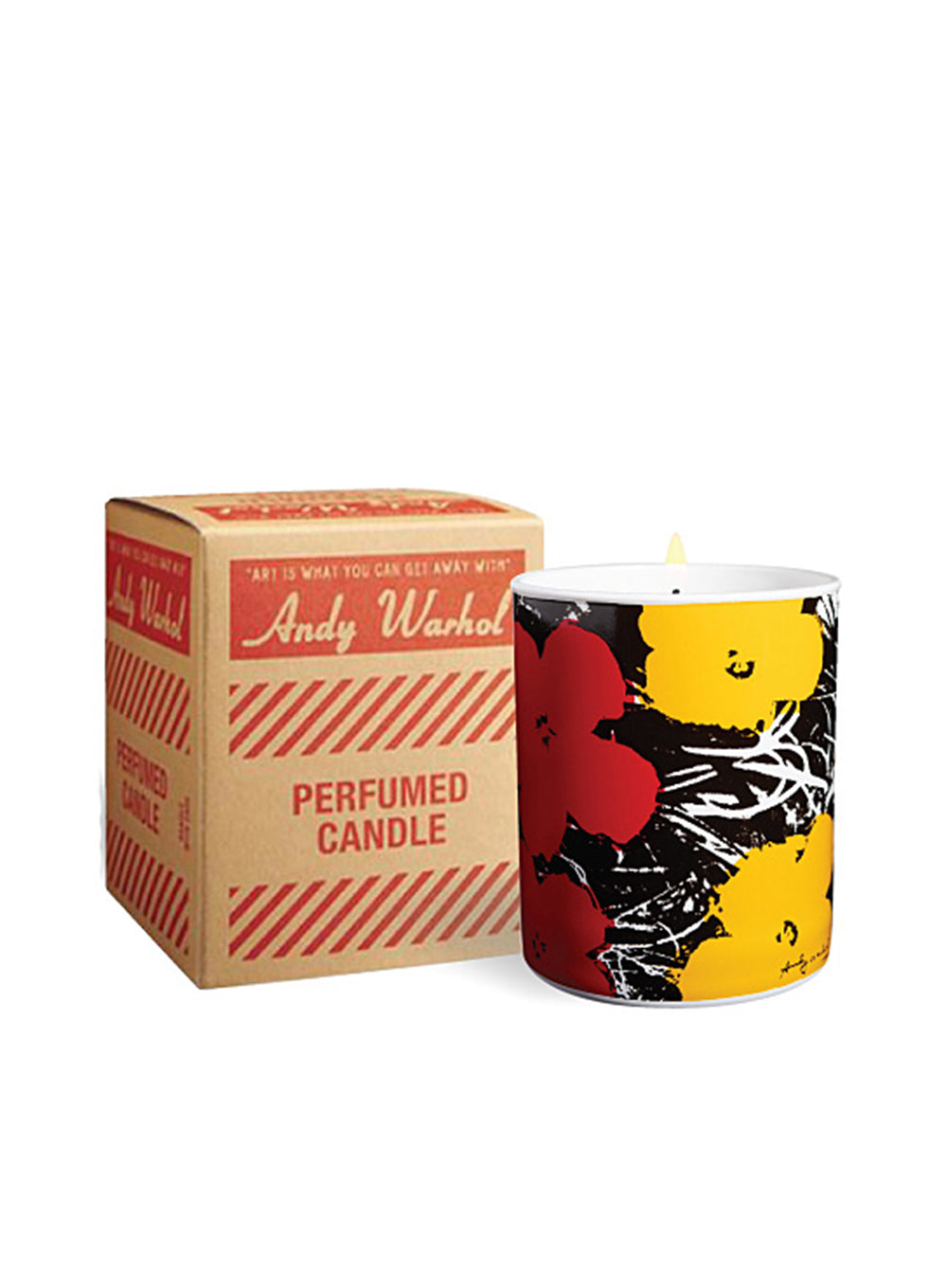 ANDY WARHOL | Pop Art Flower Candle in Yellow/Red