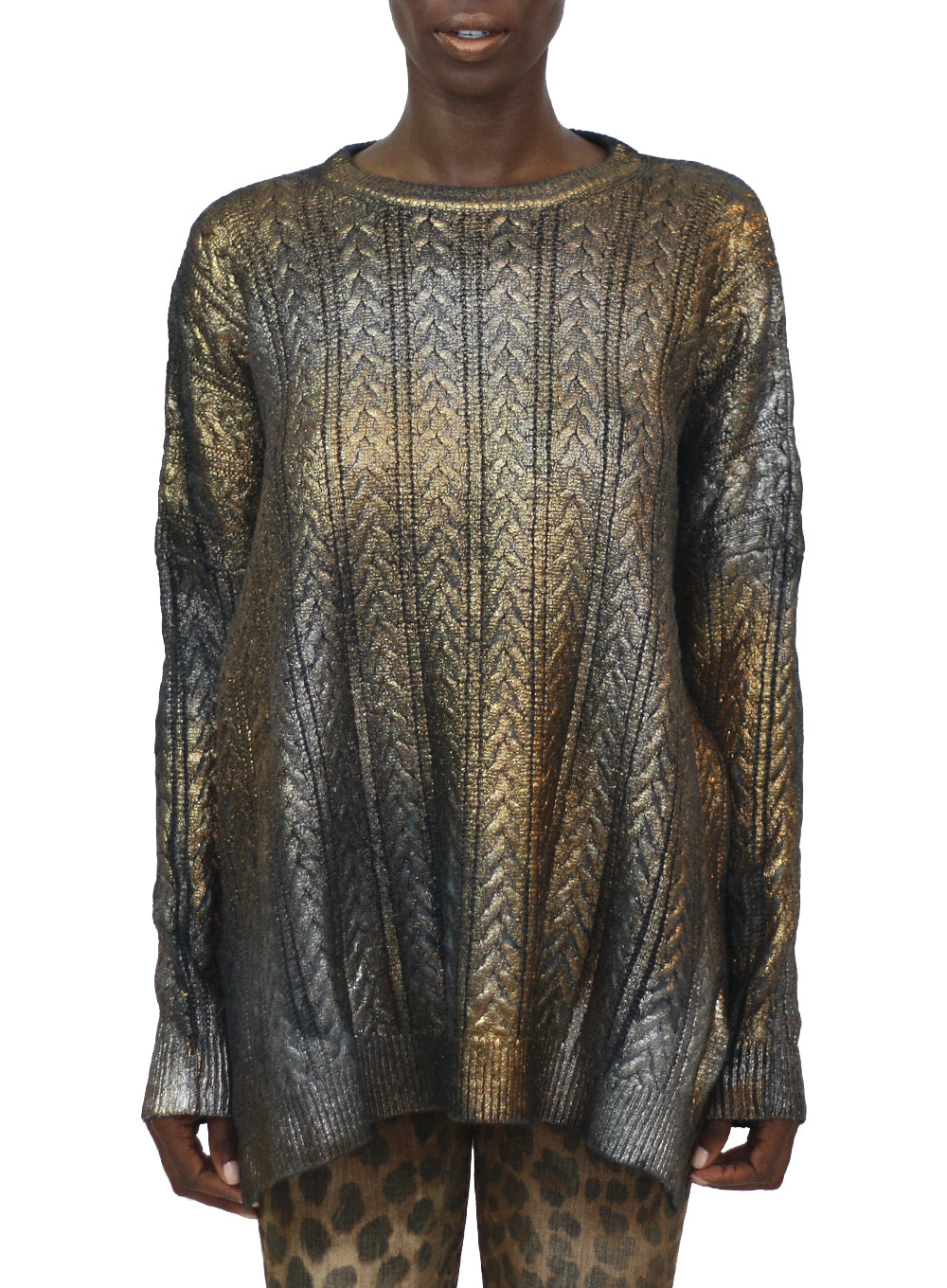 AVANT TOI | Degradè Gold/Nero Crewneck Sweater