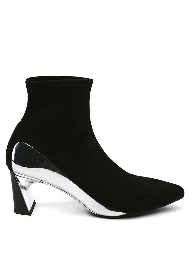 UNITED NUDE | Molten Flow Ankle Boot Mid in Black/Silver
