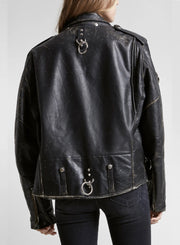 R13 | Unisex Refurbished Leather Jacket With Rings