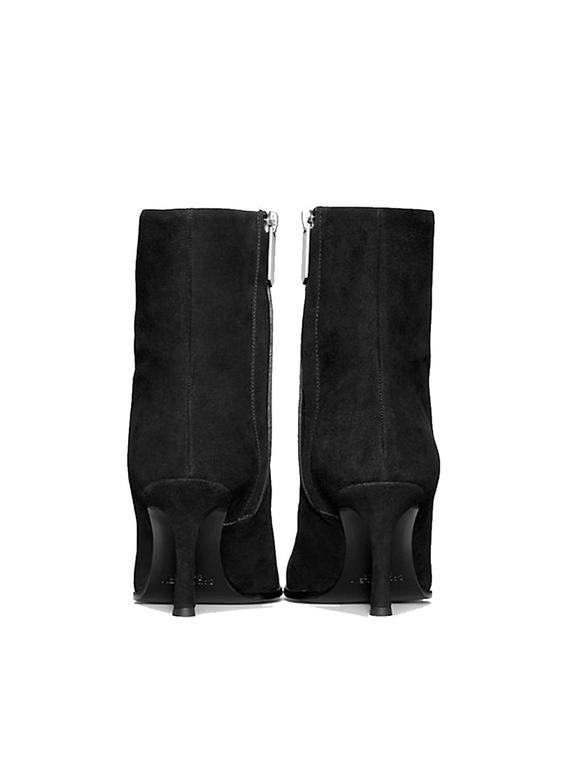 CALVIN KLEIN 205W39NYC | Heeled Ankle Boot in Suede With Silver Toe Plate