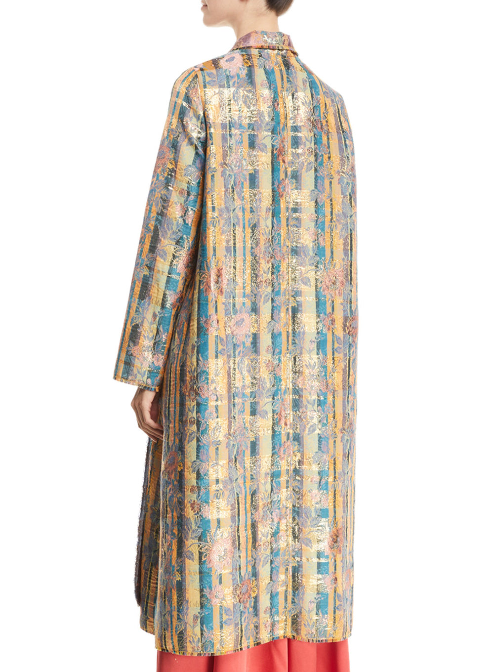 FORTE FORTE | Sea Roses Jacquard Open-Front Long Coat