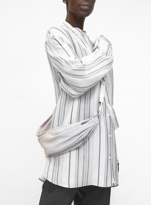 JIL SANDER | 'Giusy' Striped Shirt With Belt