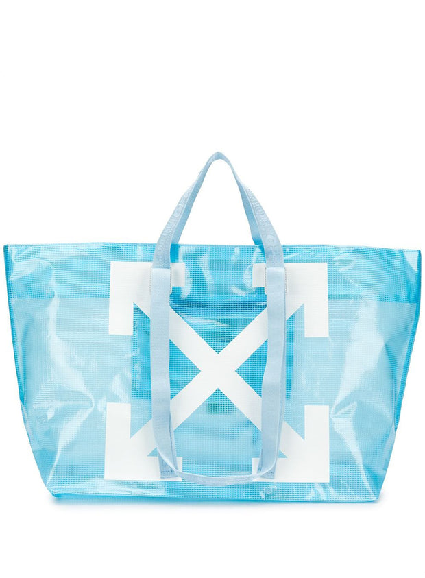 OFF-WHITE | Commercial Logo Shopper Tote Bag in Blue