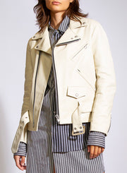 JUNYA WATANABE | Leather Jacket in Cream