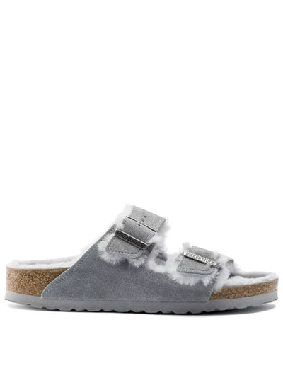 BIRKENSTOCK | Arizona Shearling Suede Leather Sandal