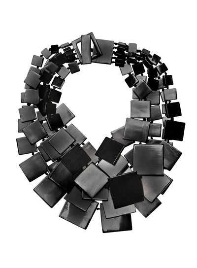 MONIES | Black Layered Necklace Made of Horn