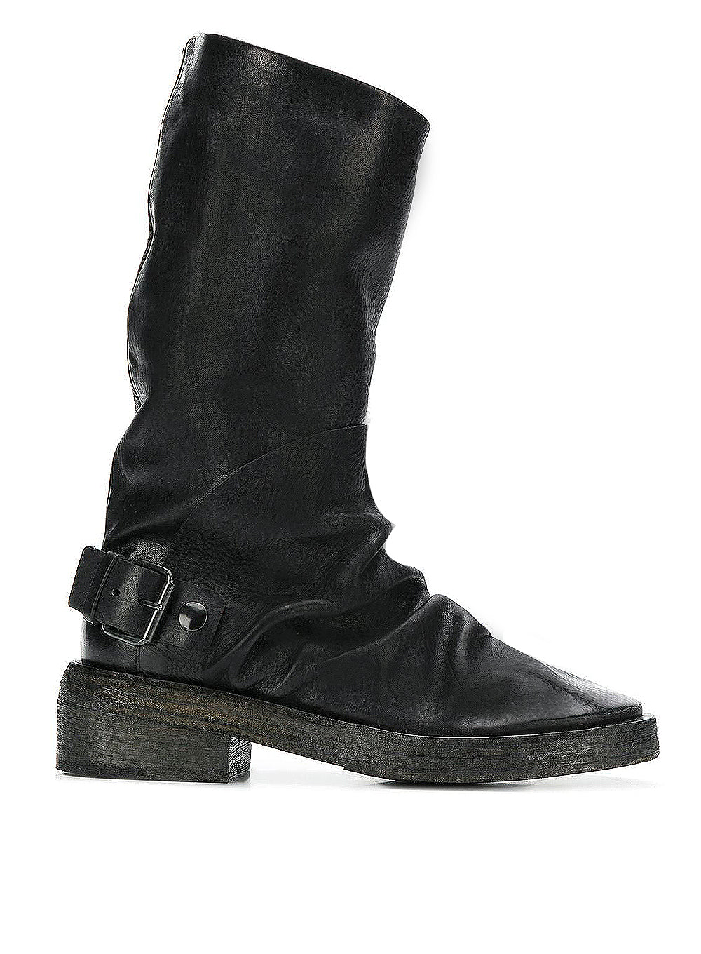 MARSÈLL | Buckle Boots in Black Suede