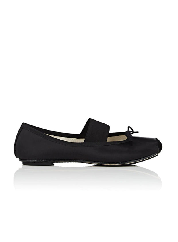 REPETTO | Catherine Ballerina Shoe in Black Satin