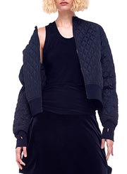 NORMA KAMALI | Quilted Bomber Jacket in Black
