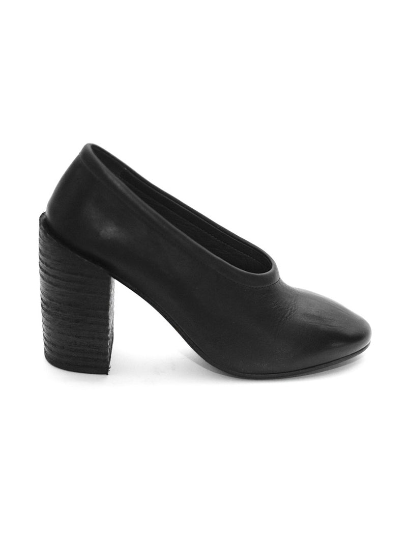 MARSÈLL | Taporsolo Chunky Heel Pumps in Black