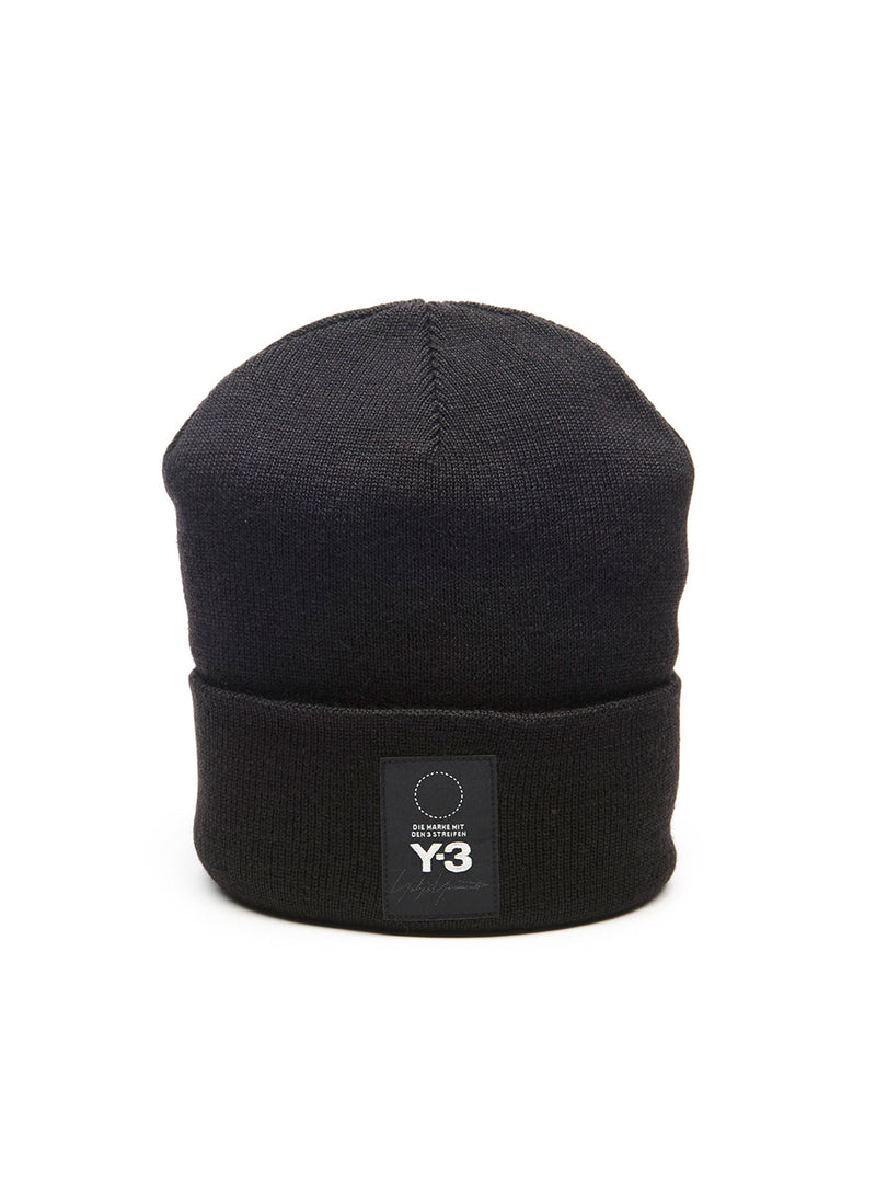Y-3 | Logo Beanie in Black