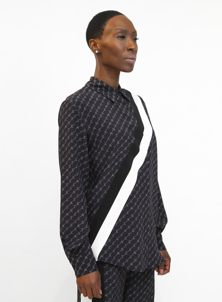 STELLA MCCARTNEY | Silk Logo Blouse