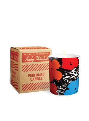 ANDY WARHOL | Pop Art Flower Candle in Blue, Orange, Red