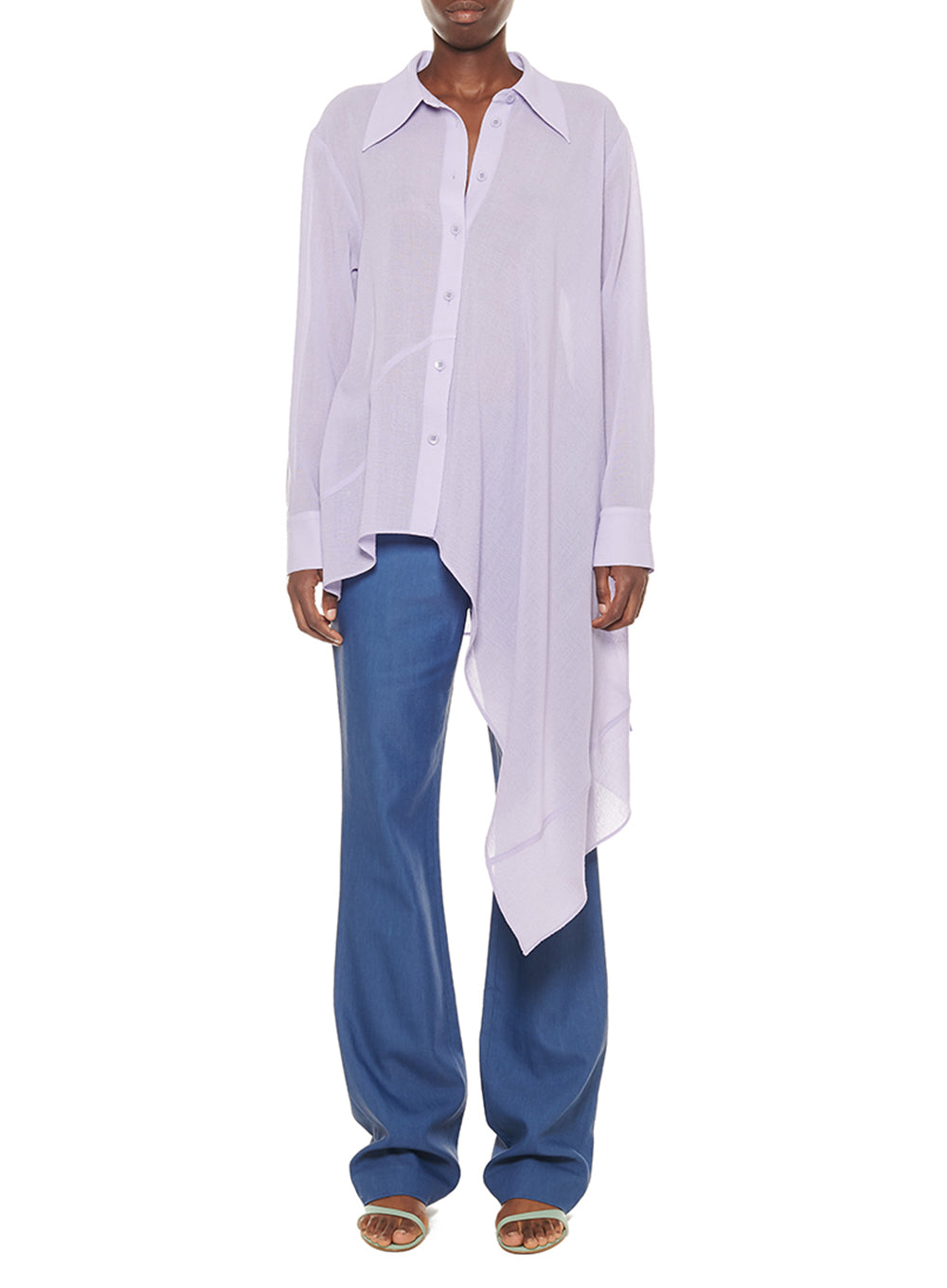 TIBI | Linen Viscose Suiting Jamie Bootcut Pants