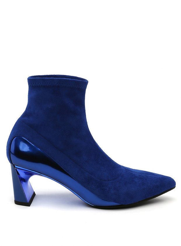 UNITED NUDE | Molten Flow Ankle Boot Mid in Cobalt Blue