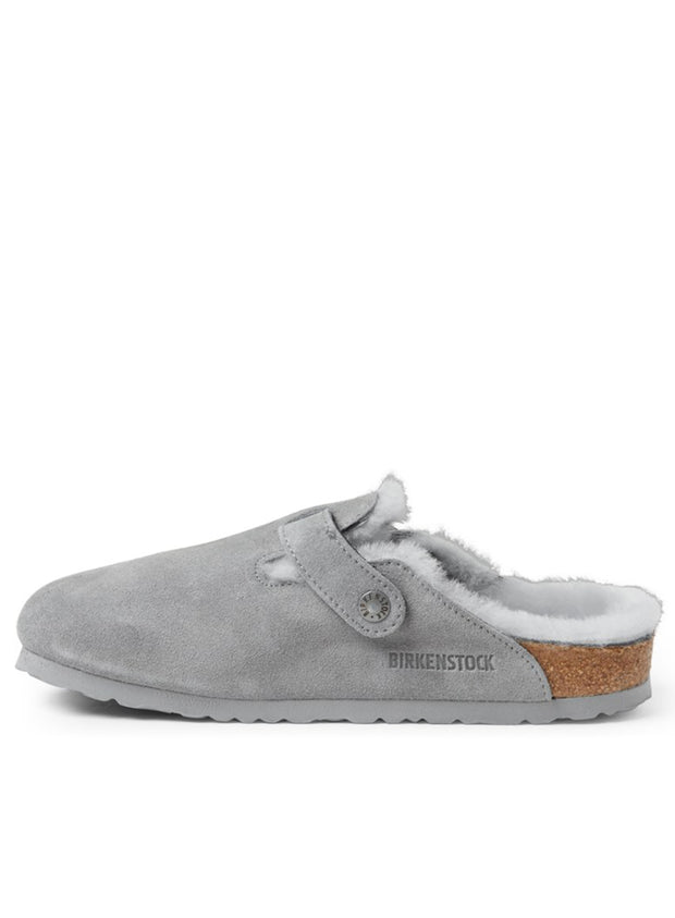 BIRKENSTOCK | Boston Shearling Clogs in Gray