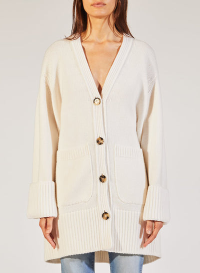 KHAITE | The Lucia Lady Cardigan in White