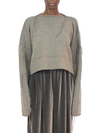 DUSAN | Knitted Wool Sweater in Taupe