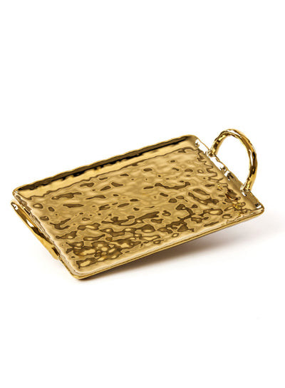 SELETTI | Fingers Porcelain Gold Tray