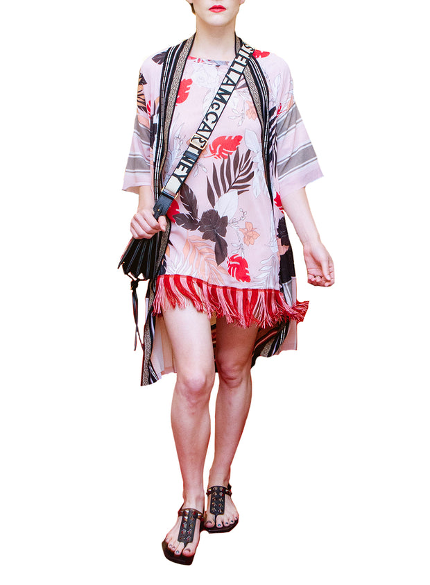 FUZZI | Floral Fringe Cover-Up Dress