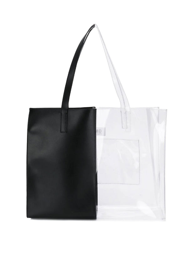 MM6 MAISON MARGIELA | Clear Panel Half-And-Half Tote Bag