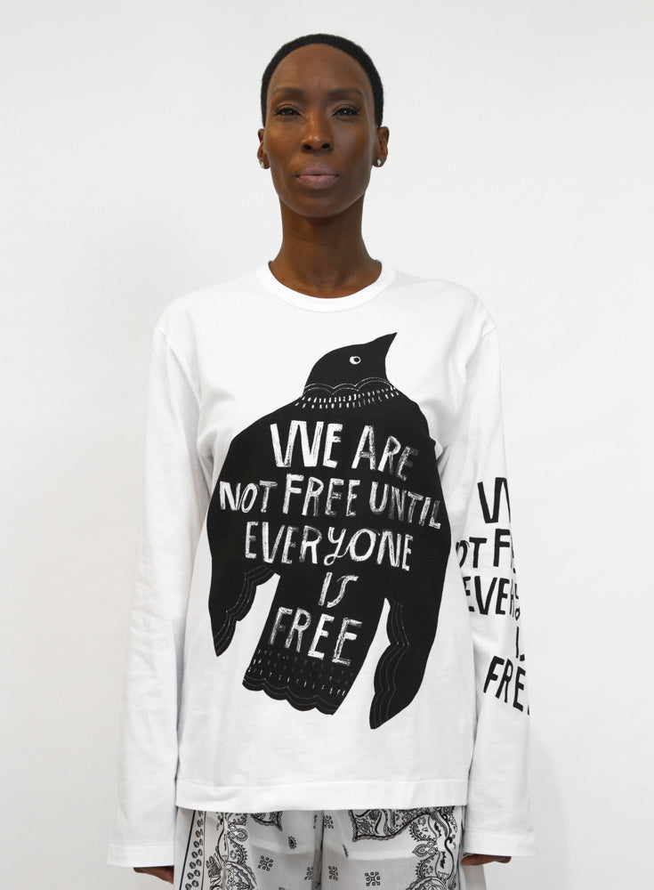 COMME DES GARÇONS | Long Sleeve 'Freedom' Graphic Tee