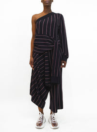 STELLA MCCARTNEY | Stripe Wool Knit Crop Pants