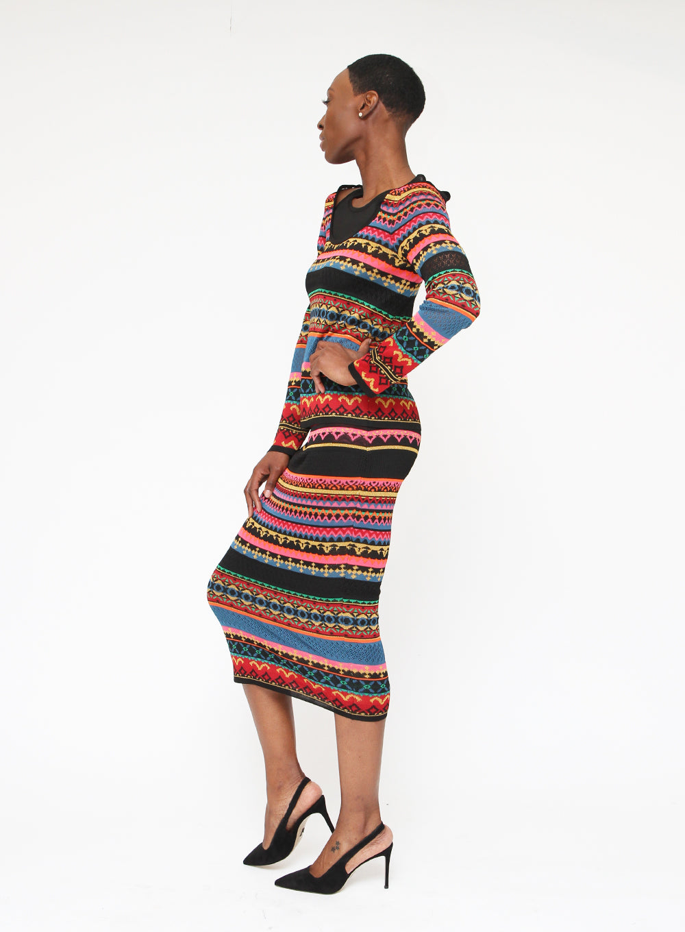 FUZZI | Multicolor Fitted Skirt