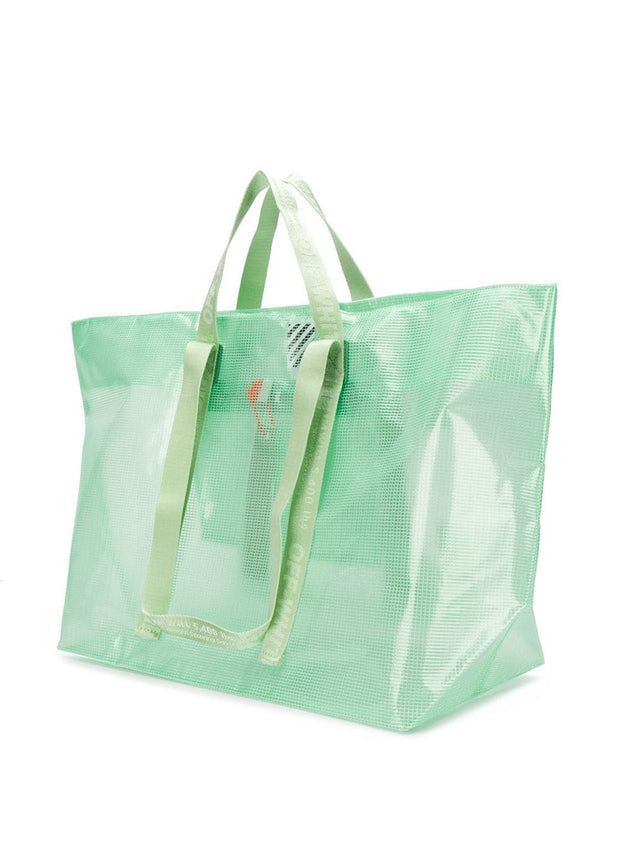 OFF-WHITE | Commercial Logo Shopper Tote Bag in Green