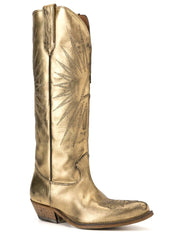 GOLDEN GOOSE | Wish Star Tall Cowboy Boots in Gold