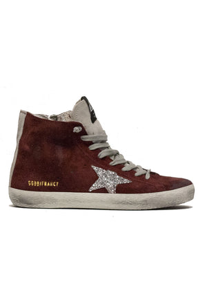 GOLDEN GOOSE | Francy Sneakers in Burgundy Suede