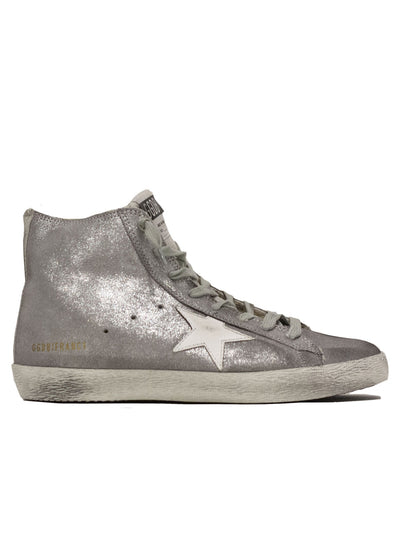 GOLDEN GOOSE | Francy Suede Shearling High-Top Sneaker