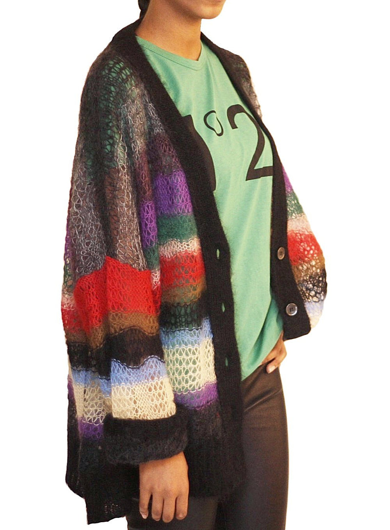 N°21 | Slouchy Multicolor Stripe Cardigan Sweater