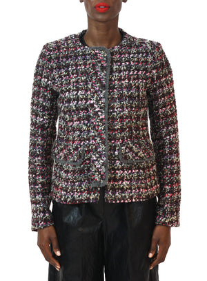 HELENE BERMAN | Collarless Tweed Jacket