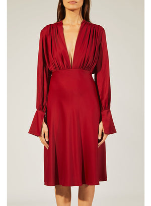 KHAITE | The Connie Dress in Currant