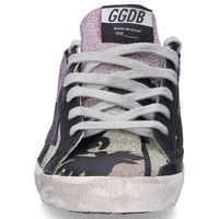 GOLDEN GOOSE | Low-Top Superstar Glitter Sneakers in Sunset/Palm Print
