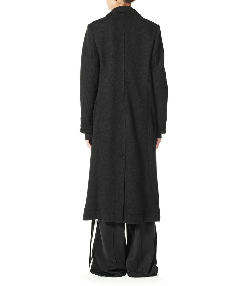 Y-3 | 3 Stripe Tailored Full Length Wool Coat