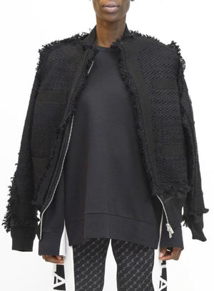 SACAI | Tweed Bomber Jacket