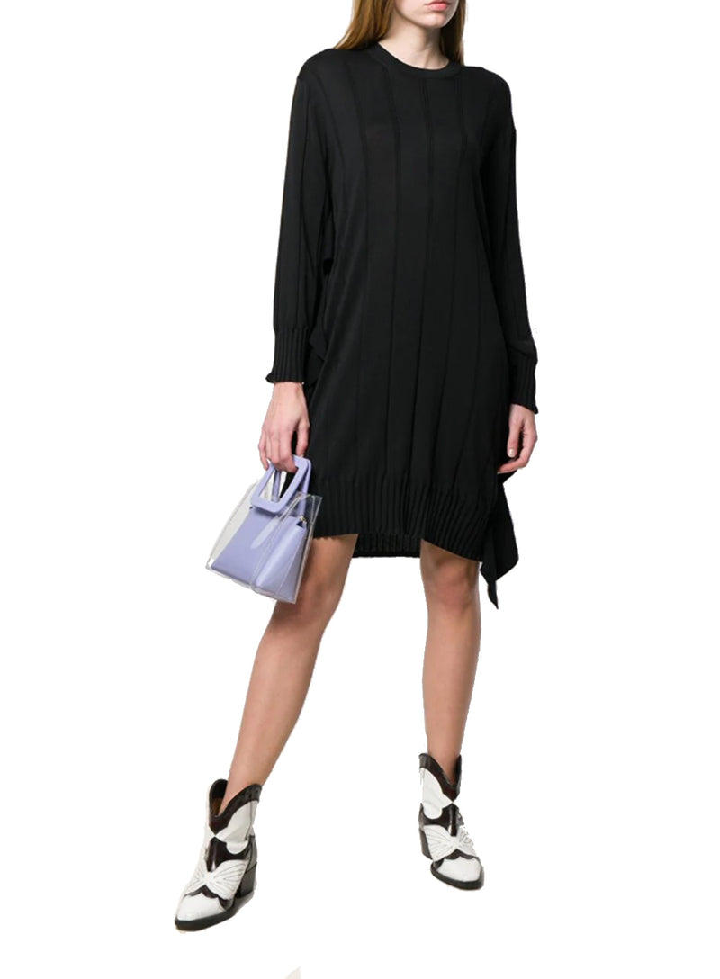 KENZO | Silk/Cotton Pleated Knit Dress