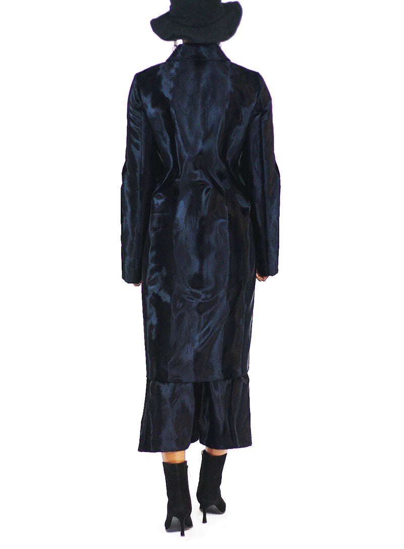 JIL SANDER | Navy Freeport Velvet Coat