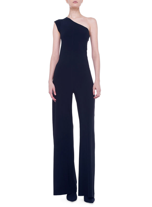 NORMA KAMALI | One Shoulder Jumpsuit in Black