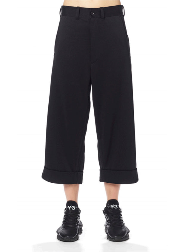 Y-3 | 3 Stripe Wide Track Pants in Black