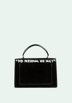 OFF-WHITE | PRE-ORDER 1.4 Jitney Cash Inside Top Handle Bag, Black/White